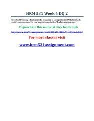 UOP HRM 531 Week 4 DQ 2