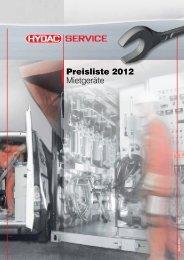 Preisliste 2012 Mietgeräte - HYDAC