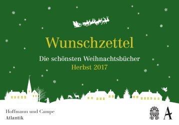 Die schönsten Weihnachtsbücher Herbst 2017