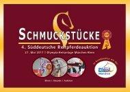 Auktionskatalog Reitpferdeauktion Schmuckstücke am 27. Mai 2017