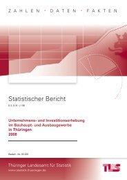 Bestell Nr: 05205P 200800 - Thüringer Landesamt für Statistik