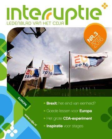 CDJA Interruptie 3 2016