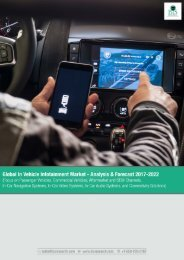 Global In Vehicle Infotainment Market Research 2017 – 2022