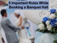 5 Important Rules While Booking a Banquet Hall