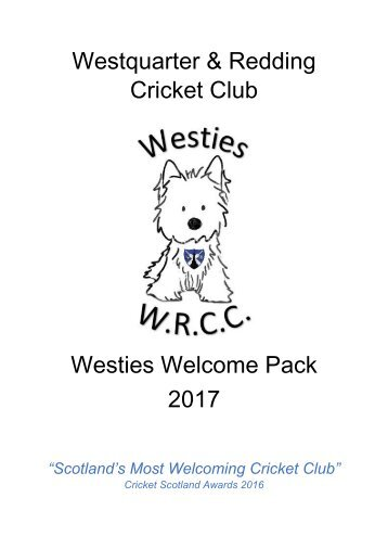 Westies Welcome Pack 2017