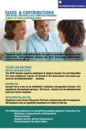 Taxes and Contributions - Tax Administration Jamaica (TAJ)