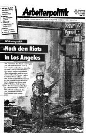 33. Jahrgang Nummer 3/4 - 23.06.1992 - der Gruppe Arbeiterpolitik