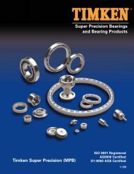 Super Precision Bearings and Bearing Products Timken Super ...