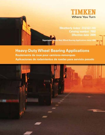 Heavy-Duty Wheel Bearing Applications - Timken