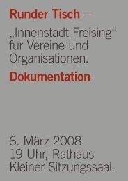 Dokumentation Innenstadt Workshop vom 06. März ... - Stadt Freising