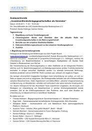 Protokoll Austauschtreffen Fondsgesellschaften 24.02.2011 - Akzent