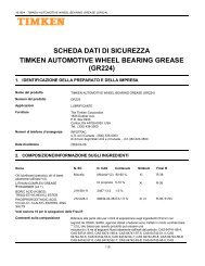scheda dati di sicurezza timken automotive wheel bearing grease