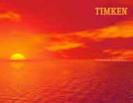 Contacts - Timken