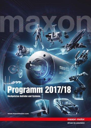 maxon Katalog Programm 2017/18 Deutsch