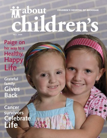 About Children - Children's Hospital of Michigan Foundation