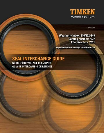Timken Seal Interchange and Cross Reference Guide