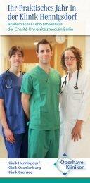 Ihr Praktisches Jahr in der Klinik Hennigsdorf - Oberhavel Kliniken ...