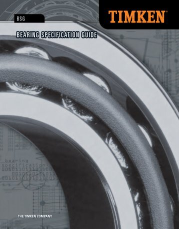 Bearing Specification Guide (PDF) - Timken