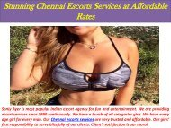 Stunning Chennai Escorts Services at Affordable Rates