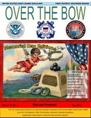 First and Foremost - US Coast Guard Auxiliary, First District ...