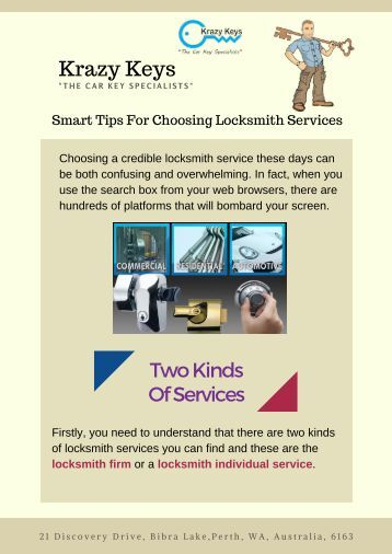 Smart Tips For Choosing Locksmith Services