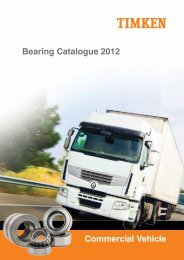 ApplICAtIon lIstIng - tRUCK - Timken