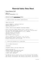 Material Safety Data Sheet - Timken