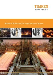 Reliable Solutions for Continuous Casters - Timken