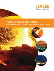 Timken Industrial Seal Catalog