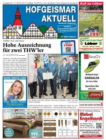 Hofgeismar Aktuell 2017 KW 17