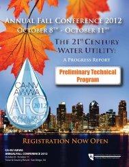 Technical Program - CA/NV AWWA