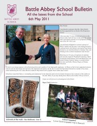 MAY6th newsletter001.indd - Battle Abbey Independent School
