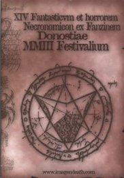 XIV Fantasticvm et horrorem - Necronomicosn ex Fanzinem - Donostiae - MMIII Festivalium
