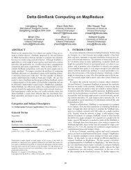 Delta-SimRank computing on MapReduce - IBM Research