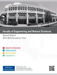 SABANCI UNIVERSITY FENS ANNUAL REPORT 2015-2016