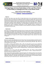 Hydrogeology and Cave Explorations of the Lost River Dobra: A ...