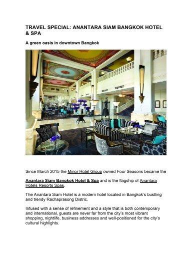 Moscow Goes Out Travel Special Anantara Siam Bangkok