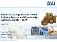 Flex Pack Coatings Market Globally Expected to Drive Growth through 2027