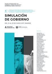 Simulación Gobierno del CIGMAP 2017