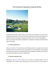5 Cool Ideas to Manage a Corporate Golf Day