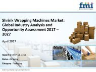 Shrink Wrapping Machines Market Expected to Expand at a Steady CAGR through 2027