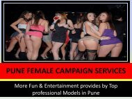 Your dreams and fantasies come True- Pune Escorts Agency