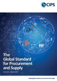 CIPS Global Standard for Procurement and Supply, Version 3, Published 2017