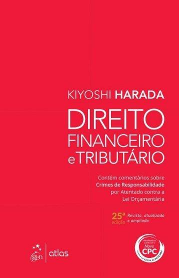Direito Financeiro e Tributrio - Kiyoshi Harada - 2016