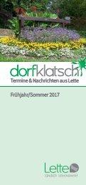 dorfklatsch - Frühjahr/Sommer 2017