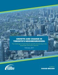 Growth and Change in Toronto's Neighbourhoods
