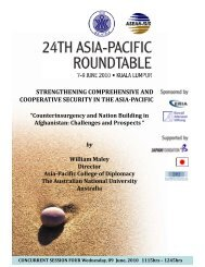 by William Maley Director Asia-Pacific College of ... - ISIS Malaysia