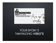 Fan Facing Website Features