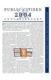 PC Inc, Foundation - 2004 Annual - Public Citizen