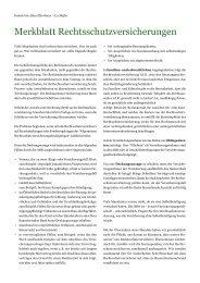 Merkblatt Rechtsschutzversicherungen - Kanzlei - Im Alten ...